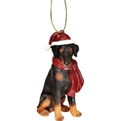 Design Toscano Doberman Holiday Dog Ornament Sculpture