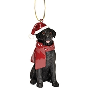Design Toscano Black Lab Holiday Dog Ornament Sculpture