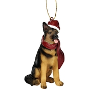 Design Toscano German Shepherd Holiday Dog Ornament Sculpture