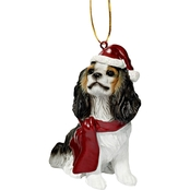 Design Toscano Cavalier King Charles Spaniel Holiday Dog Ornament Sculpture