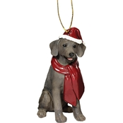 Design Toscano Weimaraner Holiday Dog Ornament Sculpture