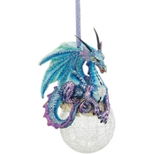 Design Toscano Frost the Gothic Dragon 2013 Holiday Ornament