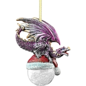 Design Toscano North Pole Dragon 2015 Holiday Ornament