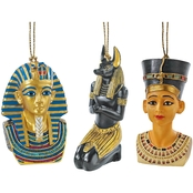 Design Toscano Icons of Ancient Egypt Holiday Ornament Collection: Set of Three