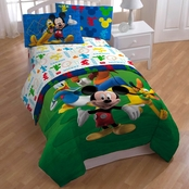 Jay Franco and Sons Disney Mickey Mouse Clubhouse Adventure 3 Pc. Twin Sheet Set