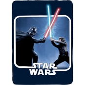 Jay Franco and Sons Star Wars Classic Space Logo Twin Blanket