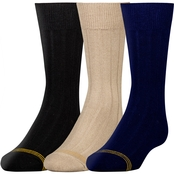 GoldToe Boys Wide Rib Dress Socks 3 Pk.