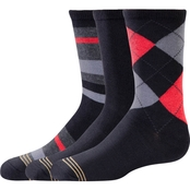 GoldToe Boys Dress Fashion Socks 3 Pk.