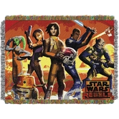 Northwest Star Wars Red Hot Rebels Woven Tapestry Throw