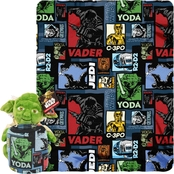 Northwest Star Wars Yoda Story Hugger and Fleece Throw Set
