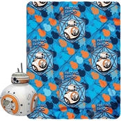 Northwest Star Wars Episode 7 BB-8 Hugger and Fleece Throw Set
