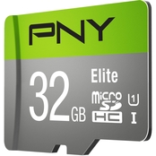 PNY 32GB 2-Pack Elite MicroSDHC Class 10 85 MB/s with adapter