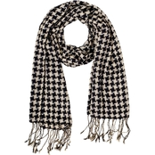 Colorplay Metallic Houndstooth Wrap Scarf
