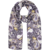 Colorplay Paisley Long & Skinny Scarf