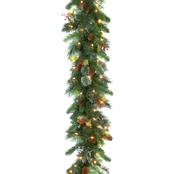 National Tree Co. 9 Ft. Wintry Pine Garland with Clear Lights