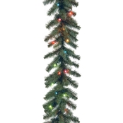 National Tree Co. 9 Ft. Kincaid Spruce Garland with Multicolor Lights