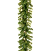 National Tree Co. 9 Ft. Norwood Fir Garland with Battery Operated White LED Lights