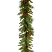 National Tree Co. 9 Ft. Pine Cone Garland with Clear Lights