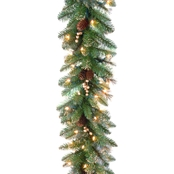 National Tree Co. 9 Ft. Glittery Gold Pine Garland with Clear Lights