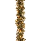 National Tree Co. 6 Ft. Glittery Bristle Pine Garland with Battery Operated LEDs