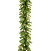 National Tree Co. 9 Ft. Norwood Fir Garland with Warm White LED Lights