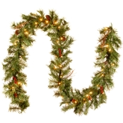 National Tree Co. 9 Ft. Glistening Pine Garland with Clear Lights
