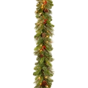 National Tree Co. 9 Ft. Cashmere Berry Garland with Clear Lights