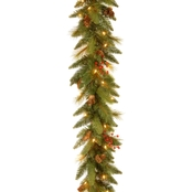 National Tree Co. 6 Ft. Long Needle Pine Cone Garland with Clear Lights