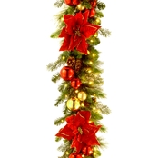 National Tree Co. 9 Ft. Home for the Holidays Garland with Clear Lights