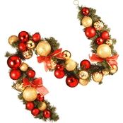 National Tree Co. 6 Ft. Red and Green Ornament Garland