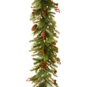 National Tree Co. 6 Ft. Noelle Garland with Battery Operated Warm White LED Lights