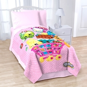 Jay Franco and Sons Shopkins Shopping Cart Fun Twin Blanket
