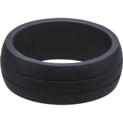 Black Silicone Embossed Ring