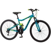 Mongoose Women's Status 2.2 26 In. Full Suspension Mountain Bike