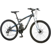 Mongoose Men's Detour 26 In. Full Suspension Mountain Bike