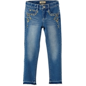 Squeeze Little Girls Release Hem Embroidered Jeans