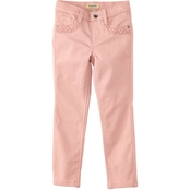 Squeeze Little Girls Sateen Skinny Jeans with Embroidered Pockets