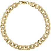 10K Gold 8.5mm Cuban Curb Chain Bracelet