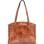 Patricia Nash Signature Map Poppy Tote