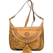 Patricia Nash Distressed Vintage Camila 2 Zip Square Hobo
