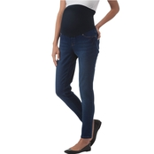 New Recruit-Over Belly Banded Skinny Denim Jeans