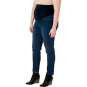 New Recruit-Plus Size Over Belly Banded Skinny Denim Jeans