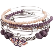 Alex and Ani Moth Art Infusion 5 Pc. Bracelet Set