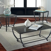Ashley Champori Cocktail Table and Two End Table Set