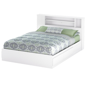 South Shore Vito Mates Bed and Bookcase Headboard Set