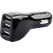 PowerZone 4.8A 3-Port USB Car Charger