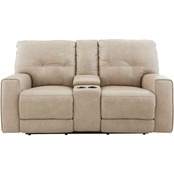 Bassett Conway Power Reclining Loveseat