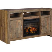 Ashley Sommerford TV Stand with Fireplace Insert