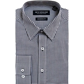 Nick Graham Modern Fitted Mini Gingham Dress Shirt