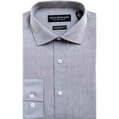 Nick Graham Modern Fitted Chambray Dress Shirt